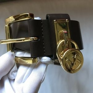 Michael Kors Belt Brown Leather Medium